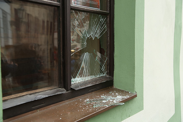 A2B Glass are able to board up broken windows while they are being repaired in Hampstead.
